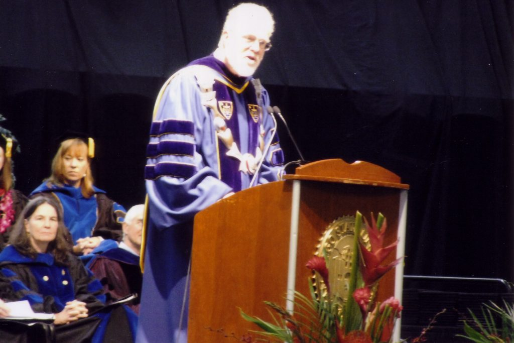SDSU President Weber during the 2009 commencement.