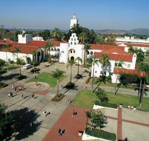 San Diego State U. aerial view