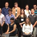 Kristi Hendrickson (2nd row, 2nd from right) with fellow winners at the 27th CSU Research Competition