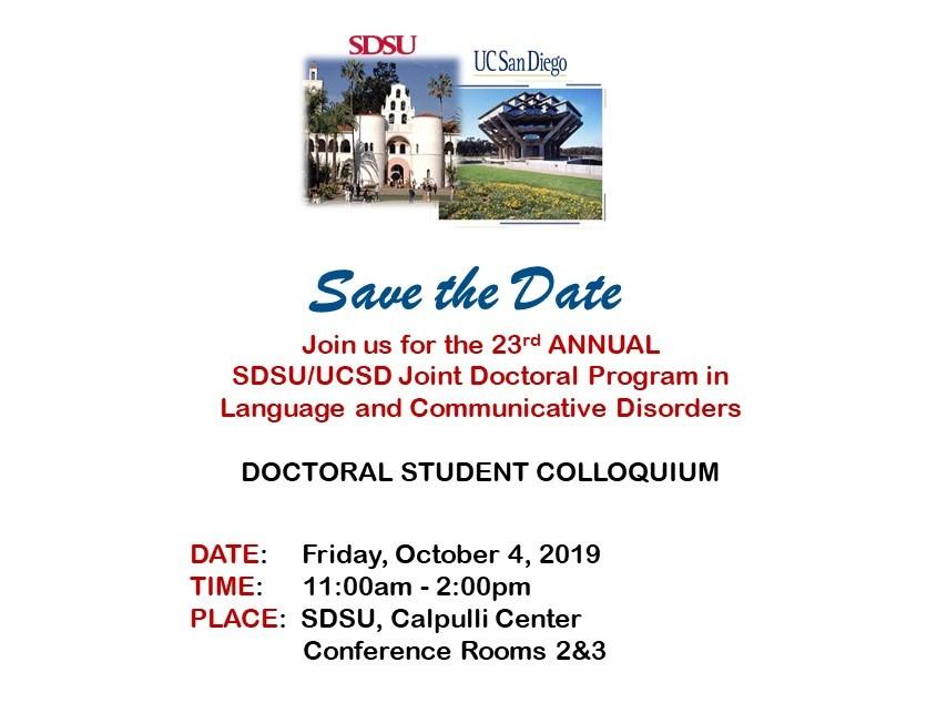 JDP-LCD 2019 Colloquium